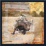 Taurus of Wall Street Mounted Print by Andrew Sullivan