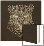 Panther Head Black Mesh Wood Sign by Lisa Kroll