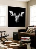 Moose Head Wall Mural by Lisa Kroll