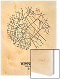 Vienna Street Map White Posters by  NaxArt