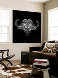 Black Buffalo Mesh Wall Mural by Lisa Kroll