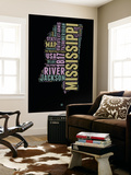 Mississippi Word Cloud 1 Wall Mural by  NaxArt