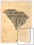 South Carolina Word Cloud 1 Poster by  NaxArt