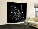 Fox on Black Wall Mural – Large by Lisa Kroll