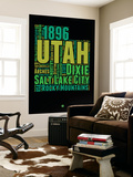 Utah Word Cloud 1 Wall Mural by  NaxArt
