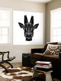 Black Giraffe Wall Mural by Lisa Kroll