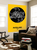 Auckland Street Map Yellow Wall Mural by  NaxArt