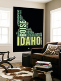Idaho Word Cloud 1 Wall Mural by  NaxArt