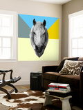 Party Horse Wall Mural by Lisa Kroll