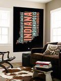 Indiana Word Cloud 1 Wall Mural by  NaxArt