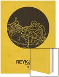 Reykjavik Street Map Yellow Poster by  NaxArt