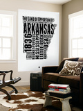 Arkansas Word Cloud 2 Wall Mural by  NaxArt