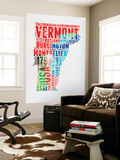 Vermont Watercolor Word Cloud Wall Mural by  NaxArt