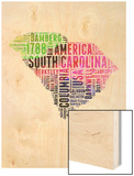 South Carolina Watercolor Word Cloud Prints by  NaxArt
