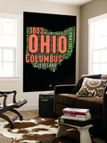 Ohio Word Cloud 1 Wall Mural by  NaxArt