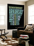 Arkansas Word Cloud 1 Wall Mural by  NaxArt