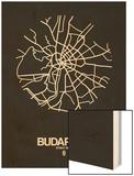 Budapest Street Map Black Wood Print by  NaxArt