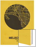 Melbourne Street Map Yellow Poster by  NaxArt