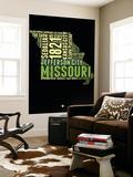 Missouri Word Cloud 1 Wall Mural by  NaxArt