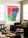 Arkansas Watercolor Word Cloud Wall Mural by  NaxArt