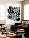 Arizona Word Cloud 2 Wall Mural by  NaxArt