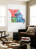 Missouri Watercolor Word Cloud Wall Mural by  NaxArt