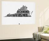 Virginia Word Cloud 2 Wall Mural by  NaxArt