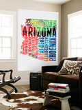 Arizona Watercolor Word Cloud Wall Mural by  NaxArt