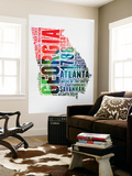 Georgia Watercolor Word Cloud Wall Mural by  NaxArt