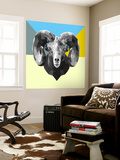 Party Ram Wall Mural by Lisa Kroll