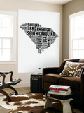 South Carolina Word Cloud 1 Wall Mural by  NaxArt