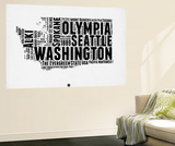 Washington Word Cloud 2 Wall Mural by  NaxArt