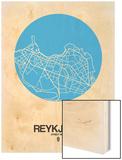 Reykjavik Street Map Blue Prints by  NaxArt