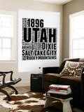 Utah Word Cloud 2 Wall Mural by  NaxArt