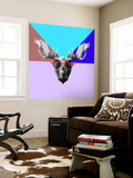 Party Moose in Glasses Wall Mural by Lisa Kroll