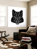 Black Fox Wall Mural by Lisa Kroll