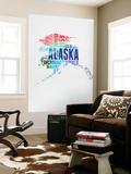 Alaska Watercolor Word Cloud Wall Mural by  NaxArt