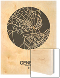 Geneva Street Map Black on White Prints by  NaxArt