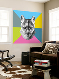 Party Mountain Lion Wall Mural by Lisa Kroll