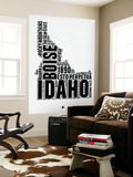 Idaho Word Cloud 2 Wall Mural by  NaxArt