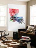 Louisiana Watercolor Word Cloud Wall Mural by  NaxArt