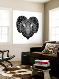 Ram Head Mesh Wall Mural by Lisa Kroll