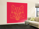 Fox on Red Wall Mural – Large by Lisa Kroll