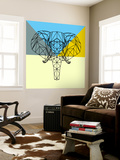 Party Elephant Polygon Wall Mural by Lisa Kroll