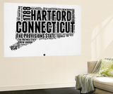Connecticut Word Cloud 2 Wall Mural by  NaxArt