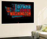 Washington Word Cloud 1 Wall Mural by  NaxArt
