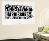 Pennsylvania Word Cloud 2 Wall Mural by  NaxArt
