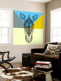 Party Zebra Wall Mural by Lisa Kroll