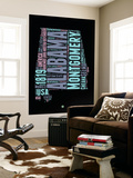 Alabama Word Cloud 1 Wall Mural by  NaxArt