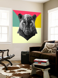 Party Panther Wall Mural by Lisa Kroll
